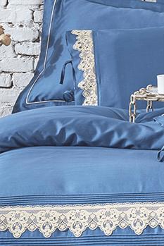 Azra Nevresim Takımı Koyu Mavi Duvet Set