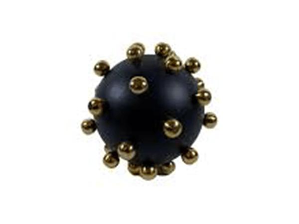 Gold Biyeli 13 cm Siyah Top Dekor